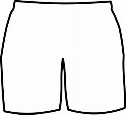 Shorts Clip Boxer Clipart Template Short Pants