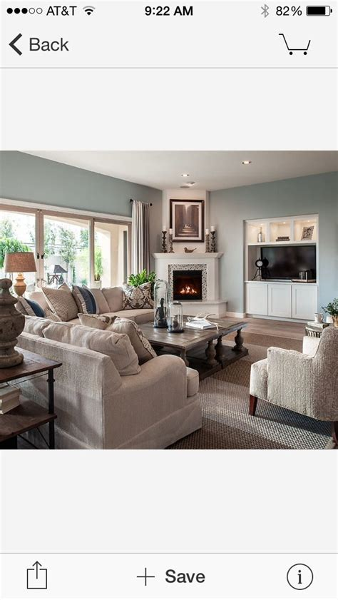 furniture arrangement with corner fireplace and love wall