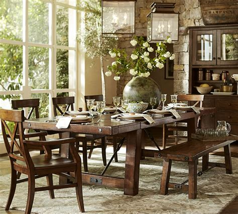 pottery barn dining room the design our benchwright dining table
