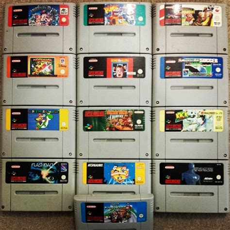 Photos Of Snes Gaming And Retro Game Collections