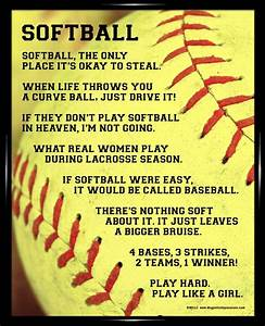 Softball Quotes | Softball Sayings For Posters Softball ...