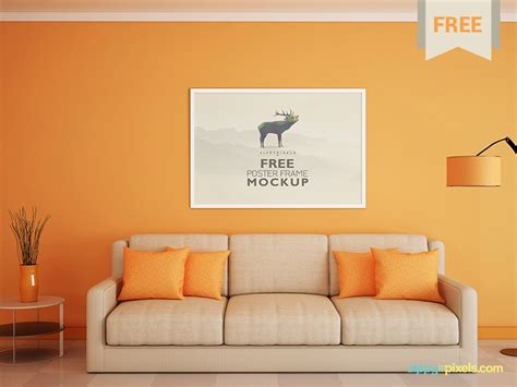 poster  photo frame mockup  zippypixels dribbble