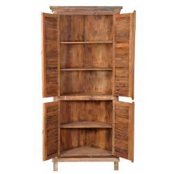 tarandesigns aiden tall shutter corner cabinet wayfair