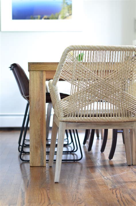 Beige Rope Chairs   Breakfast Nook Project   The