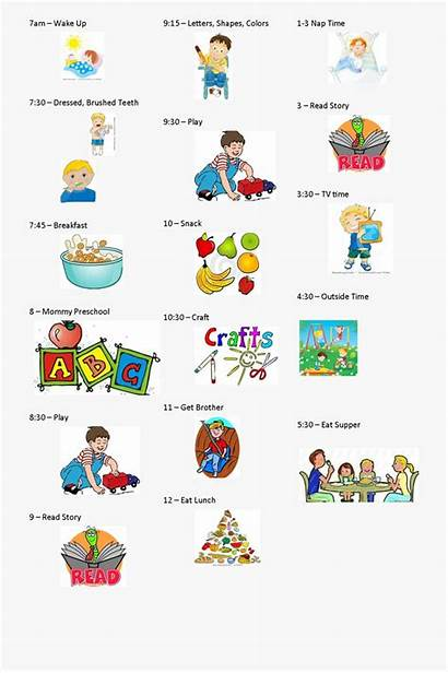 Activities Routine Daily Clipart Planner Organized Pre