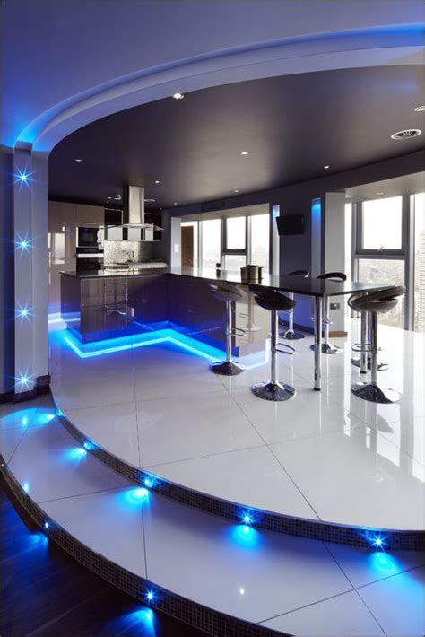 led home interior lights kitchen ultra modern kitchen concepts with beautiful led