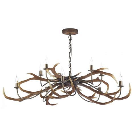 deer antler chandelier large uk made stag anter ceiling light hanging on chain