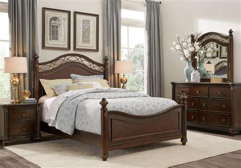 laurel view cherry 5 pc king poster bedroom