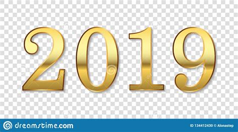 happy year background gold number isolated white