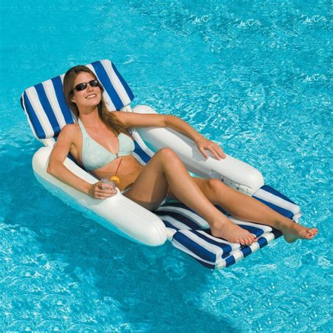 sunchaser padded floating pool lounger nt140