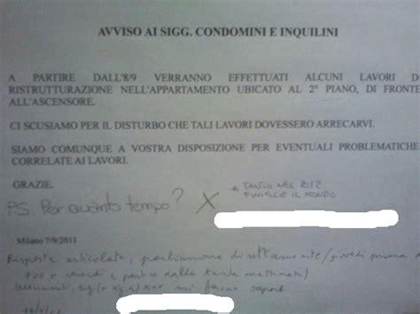 lettera al condominio il portinaio 187 avviso ai signori condomini