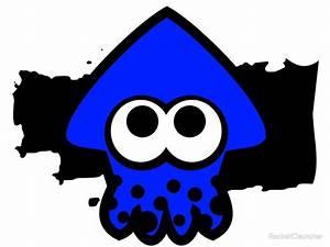 """Splatoon Squid (Dark Blue)"" by RocketClauncher Redbubble"