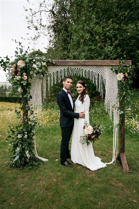 Burgundy And Bohemian Festival Wedding Inspiration Boho
