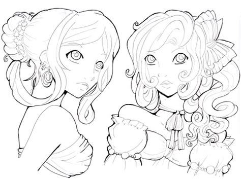 Young Ladies coloring page Free Printable Coloring Pages