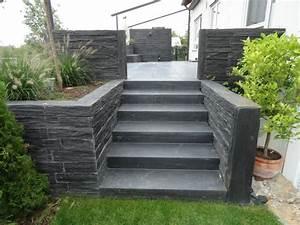 escaliers exterieurs en ardoise les idees de cote deco With realiser un escalier exterieur