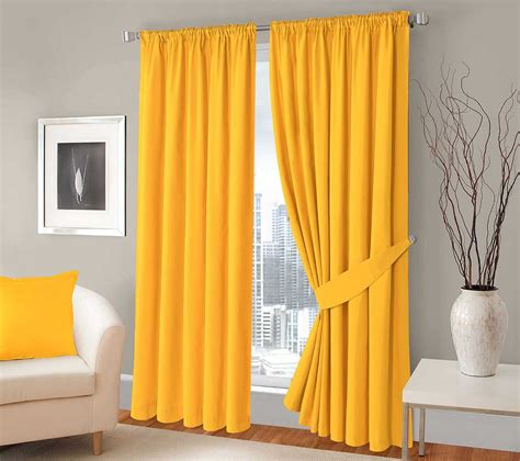 yellow blackout curtains 100 blackout 3 pass curtains thermal solar lining pair