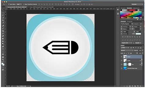 create  sleek ios app icon  photoshop