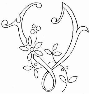 monogram for hand embroidery letter v needlenthreadcom With monogram letter v