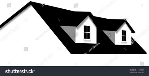 clean abstract house design element roof stock vector