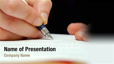 writing hand powerpoint templates writing hand