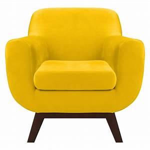 Fauteuil En Velours : fauteuil copenhague en velours jaune d couvrez les fauteuils copenhague en velours jaunes ~ Dode.kayakingforconservation.com Idées de Décoration