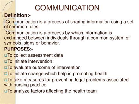 communication  nursing