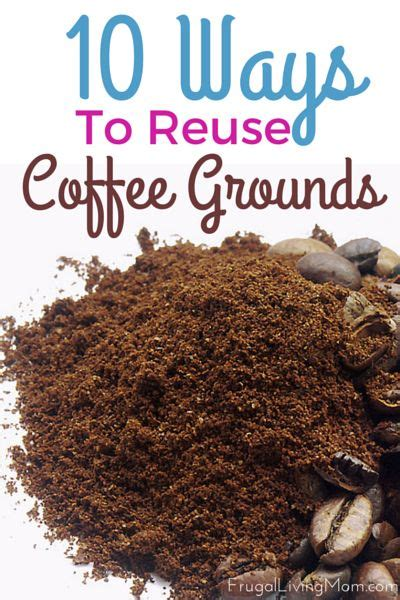 Coffee grounds are great to add to your garden. Reusing Coffee Grounds Can Save You Money! | Frugal Living Mom