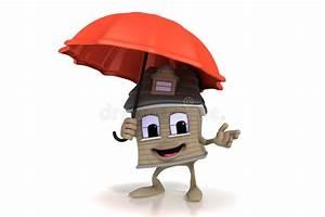 maison heureuse de dessin anime retenant un parapluie With toit de maison dessin 5 maison au toit rouge isole sur fond blanc dessin anime