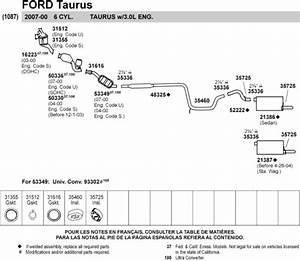 Ford Taurus Exhaust Diagram