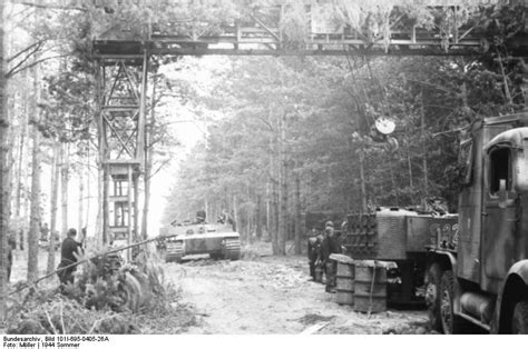 """German Army """"Tiger I"""" Heavy Tank Under Repair in a ..."""