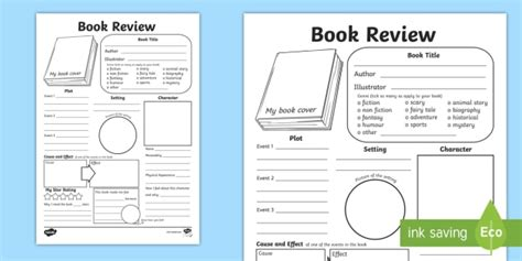 Book Review Template In Depth Book Review Writing Template Reading Book Review