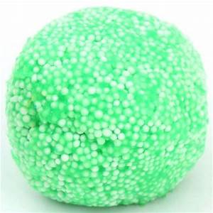 green microbead slime with case kawaii floam mud clay