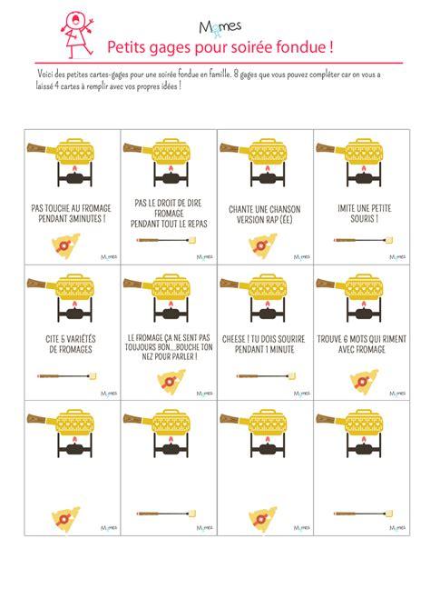 Idées De Gages Pour Fondue Momesnet