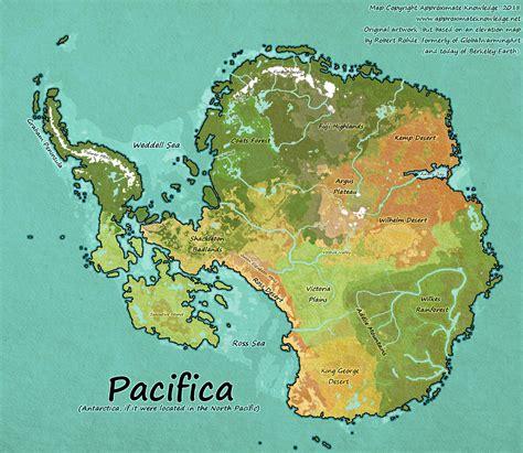 map  antarctica    located   north