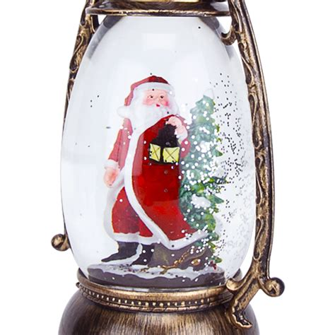battery operated snow globes christmas snow globe led lighted lantern battery operated swirling glitter water ebay