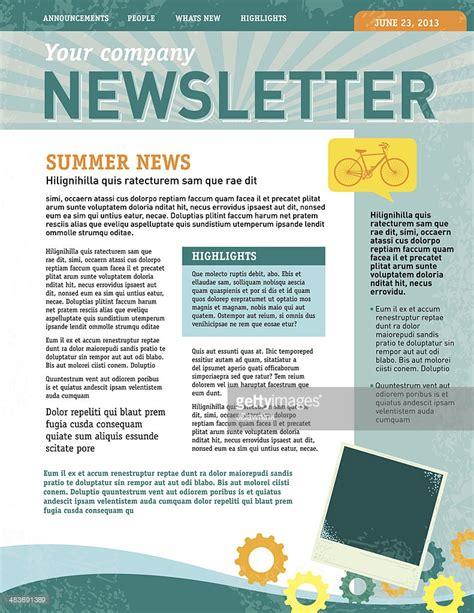 newsletter design company newsletter design template vector getty images
