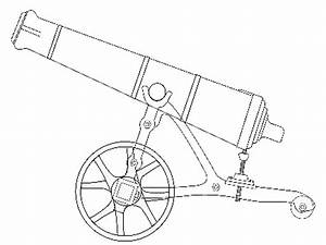How To Draw A Easy Cannon Civil War Sketch Coloring Page