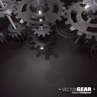 realistic gear design vector background