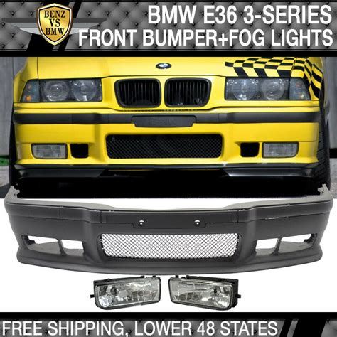 fits 92 98 bmw e36 3 serie m3 style front bumper cover lip grille fog lights ebay
