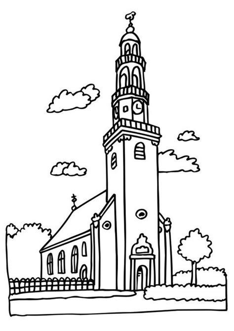 Kleurplaat Kerk by Kleurplaat Kerk Afb 6513