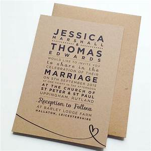 39henley rustic kraft39 wedding stationery set by megan With rustic wedding invitations philippines