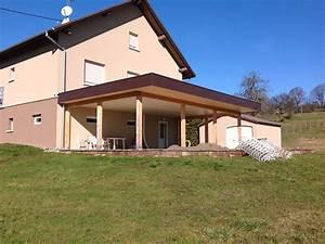 maison avec avancee de toit 14 grande terrasse couverte With photo maison toit plat 14 agrandir teraa