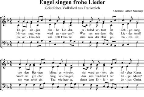 engel singen frohe lieder albert neumayr noten zum