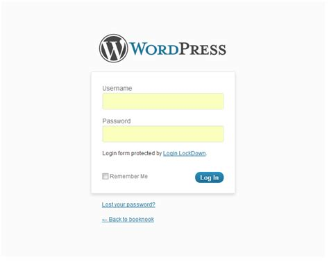 Custom Wordpress Login Page • Nose Graze