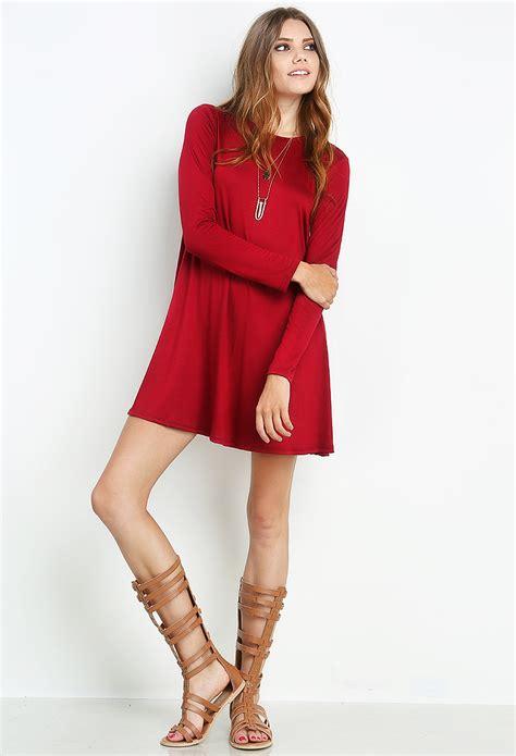Long Sleeve T-Shirt Dress | Shop Dresses at Papaya Clothing