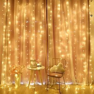 2m, Led, Curtain, String, Light, Fairy, Icicle, Led, Festival, Wedding, Party, Valentine, Decoration, Garland