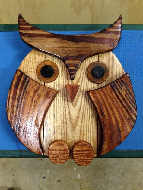 wood owl crafted  pallets wood owls wooden owl owl