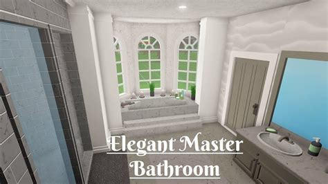 robloxbloxburg elegant master bathroom youtube