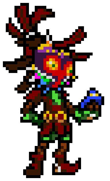 skull kid pixel art maker