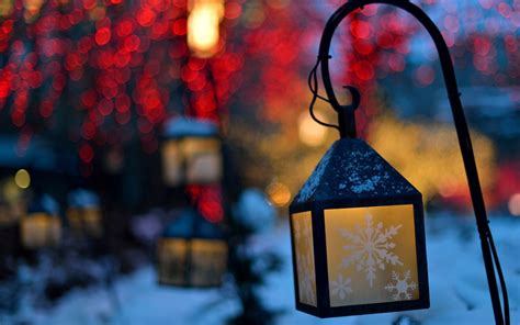 Lanterns Lights Snowflakes Winter Nature Christmas #6933335